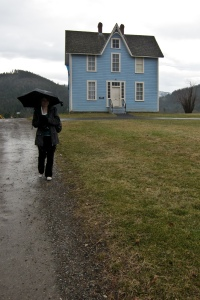In Front of a Blue House