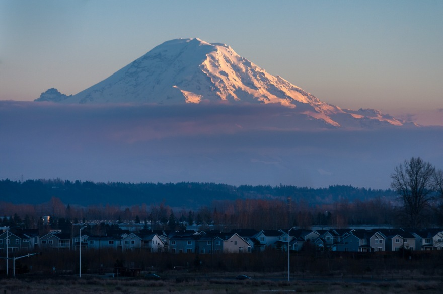 Mount Rainier from Kent Washington