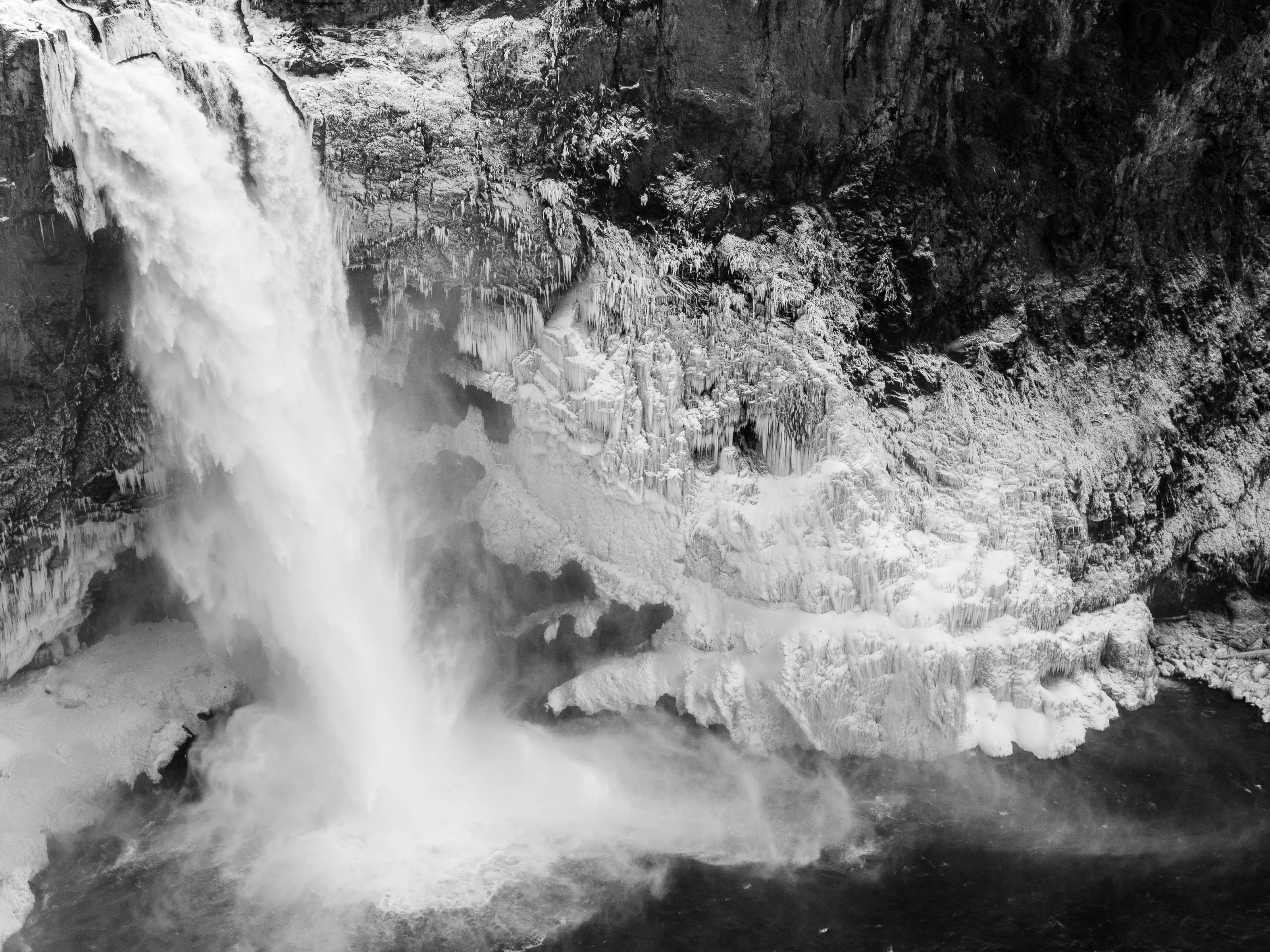 Frozen Snoqualmie Falls